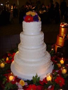 Words of Love Bridal Cake