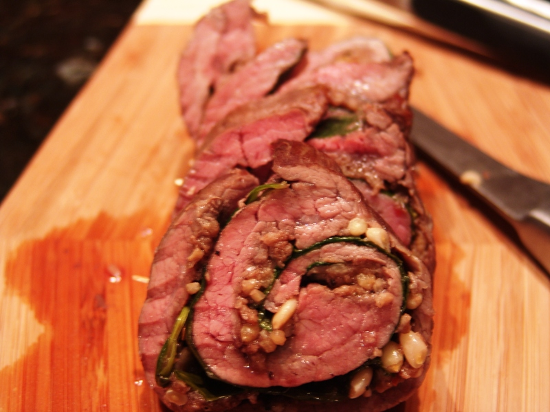 Rolled Flank Steak Recipe — Dishmaps
