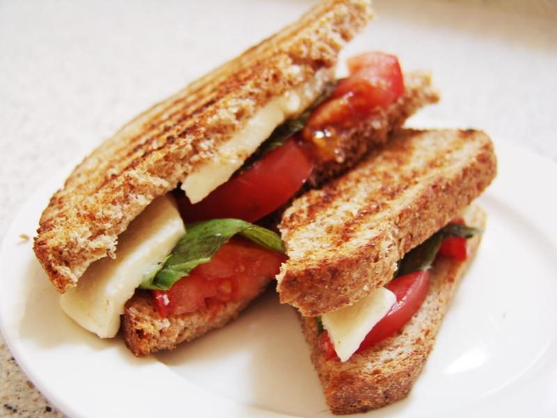 ingredients 1 2 tomatoes sliced 2 3 slices fresh mozzarella per panini ...