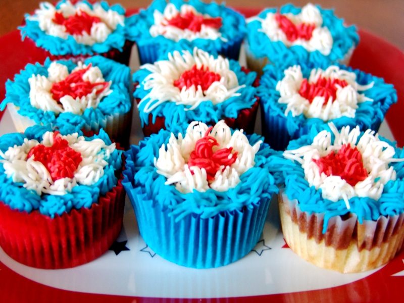 fourth of july cupcakes recipes. Marble Cupcakes 4th of July