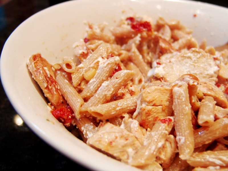 Goat Cheese And Sun-Dried Tomato Pasta Recipe — Dishmaps
