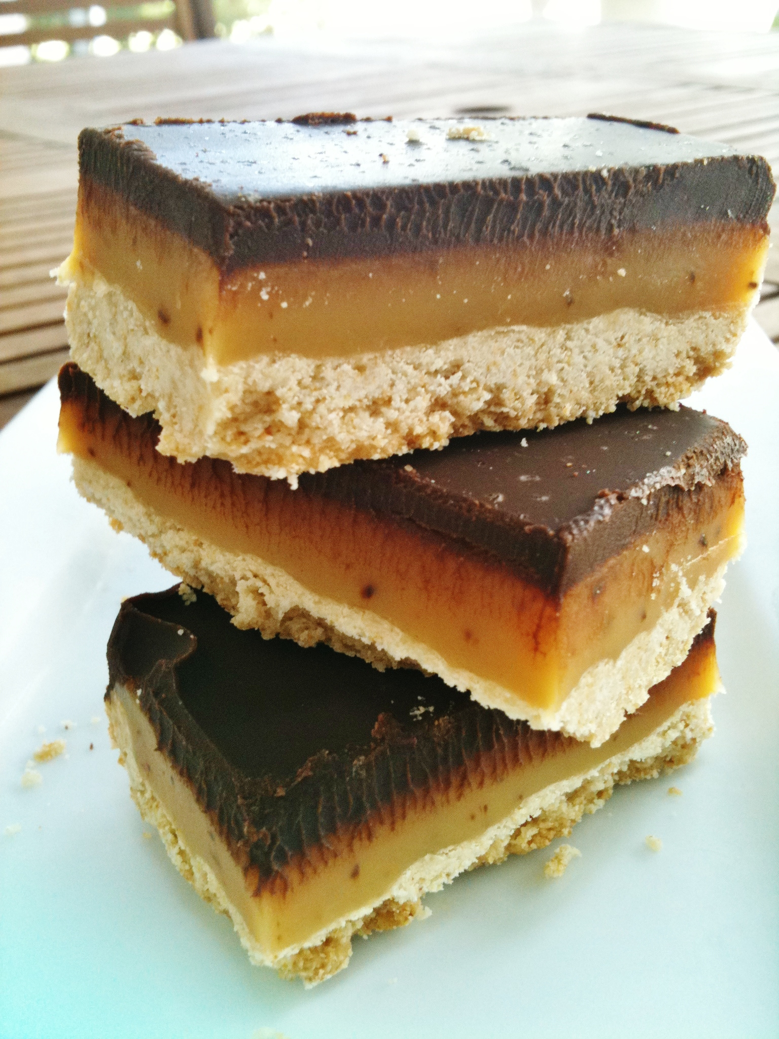 Salted Caramel Chocolate Shortbread Bars | LOVES TO EAT